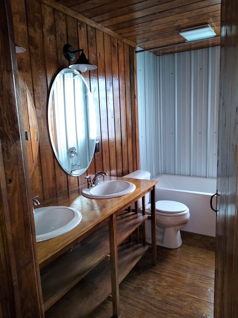 Main Bath – Countdown to the opening of Cabin #11